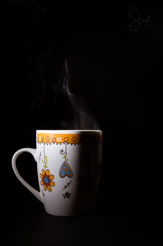 The bliss of sipping on a cup of hot coffee during a cold morning.